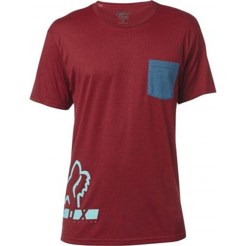 FOX  DISPLACED SS TEE -19273-383 Red