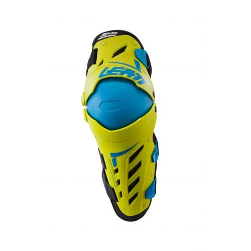 Leatt  KNEE & SHIN GUARD DUAL AXIS LIME/BLUE