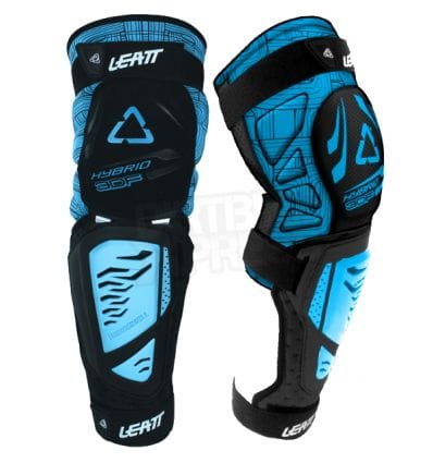 Leatt  KNEE & SHIN GUARD 3DF HYBRID EXT BLACK/BLUE